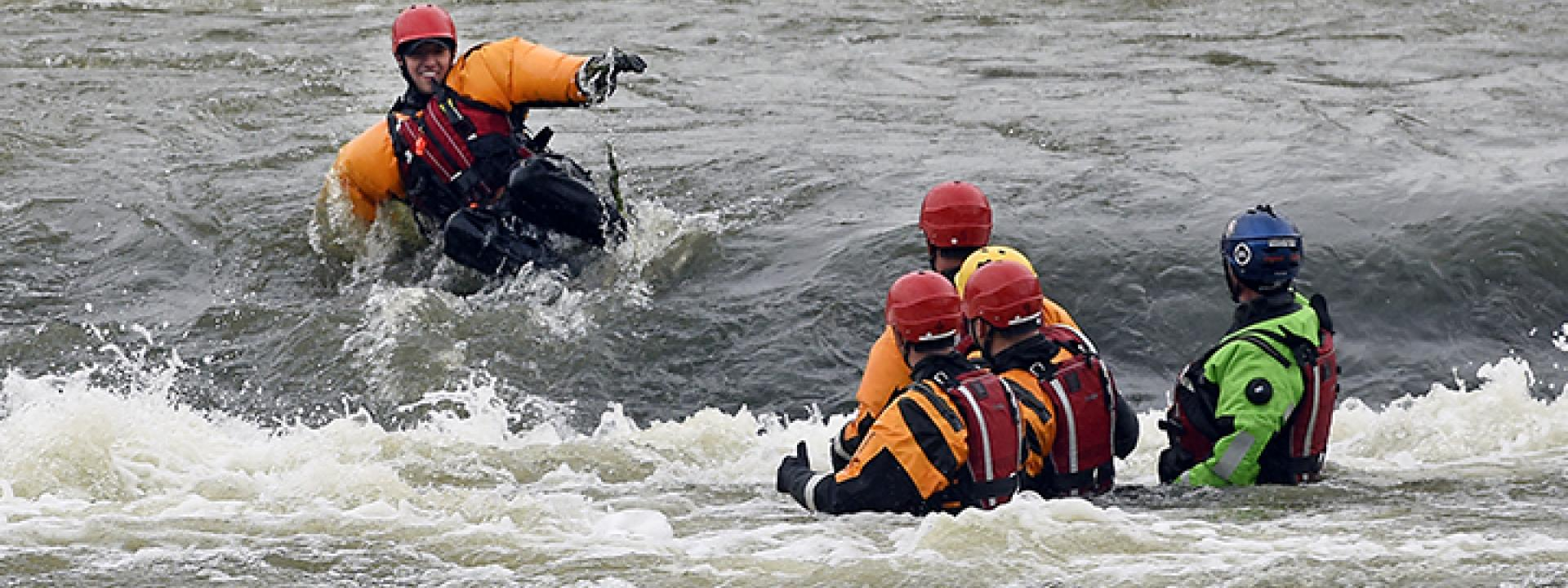 Picture of a water rescue