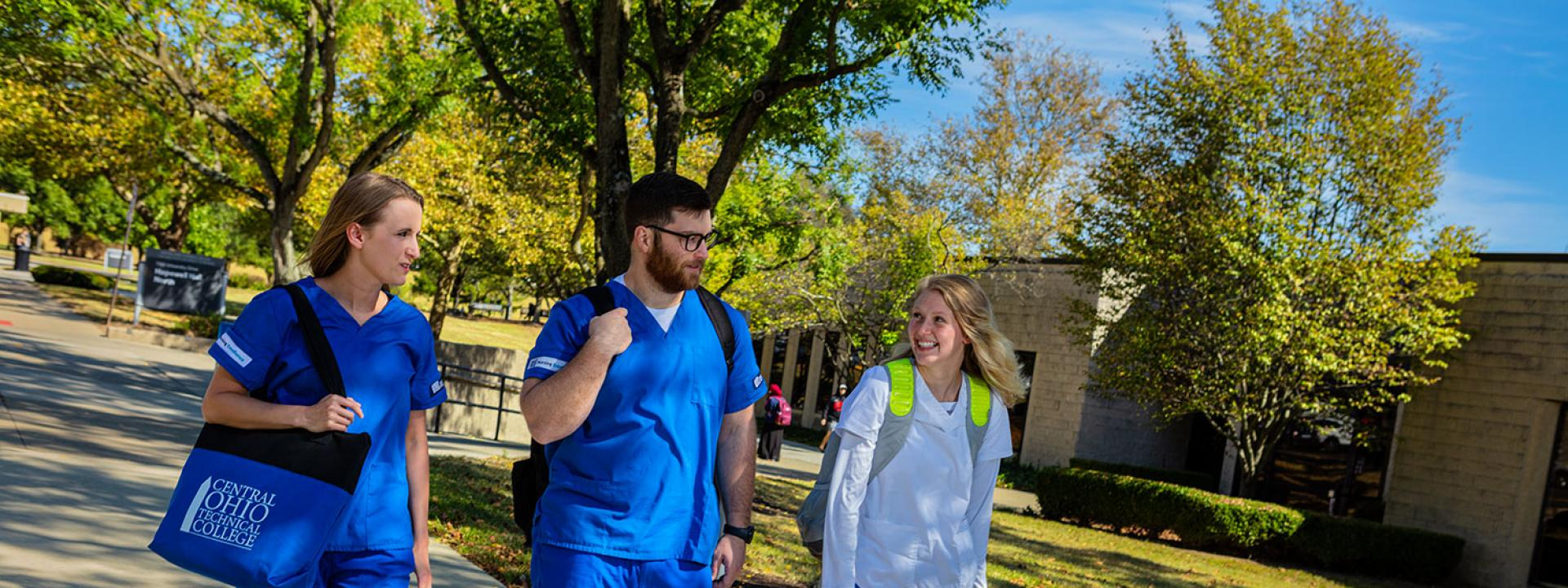COTC Nursing Students Walking