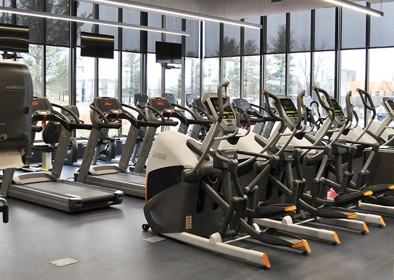 Workout machines at the Adena Recreation Center