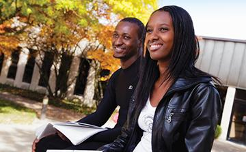 Photo of male and female African American student