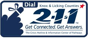 Knox & Licking Counties 211 logo